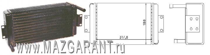 Радиатор отопителя кабины медный - Фото